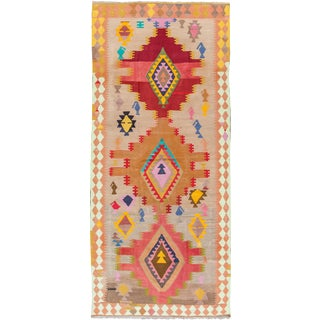 Mid 20th Century Vintage Kilim Wool Runner Rug For Sale