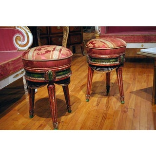 Pair of French Painted Stools Preview