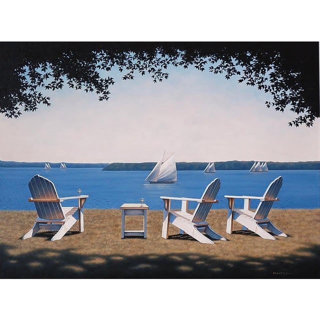 Daniel Pollera, Afternoon Seating Painting, 2016 For Sale