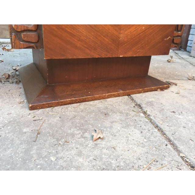United Furniture Brutalist Side Tables - A Pair For Sale - Image 7 of 8
