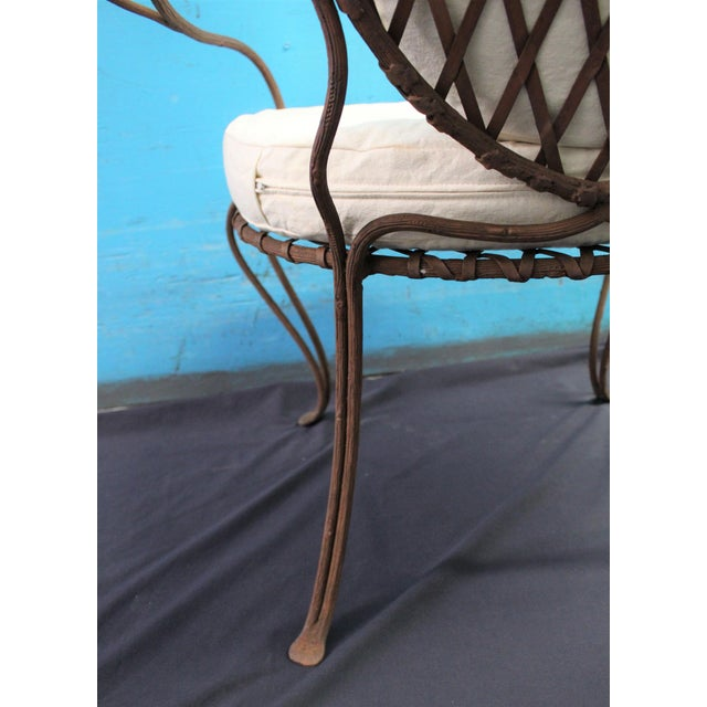 Rose Tarlow Twig Iron Garden Armchairs & Table Base For Sale - Image 9 of 10