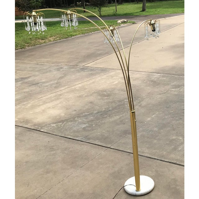 Vintage Mid Century Waterfall Floor Lamp With Marble Base For Sale - Image 9 of 13