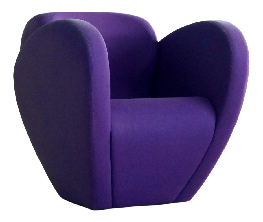 Ron Arad Lounge Chair Model In Purple Wool For Moroso, Italy For Sale