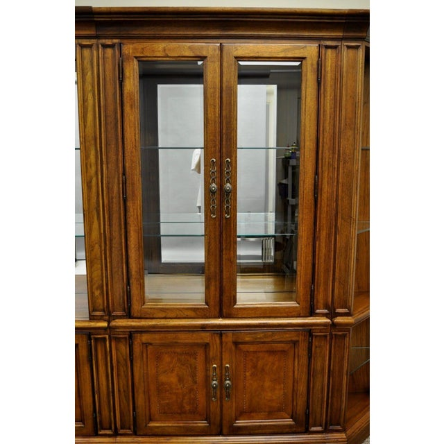 4 Pc Thomasville British Gentry Wall Unit Display Cabinet Bookcase Bookshelf For Sale