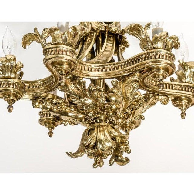 English Gothic Revival Bronze Chandelier For Sale - Image 11 of 13