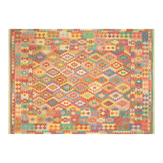 "Nalbandian - Contemporary Afghan Maimana Kilim - 6'10"" X 9'5"" For Sale"