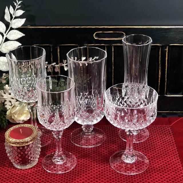 Cristal d'Arques Durand Longchamp 5 Pc. Place Setting - 6 Sets / 30 Total Pieces For Sale - Image 9 of 10