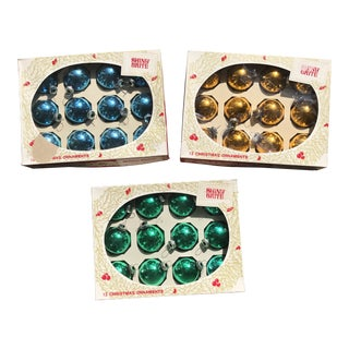 1960's Mid Century Modern Shiny Brite Ornament Collection - Set of 3 For Sale