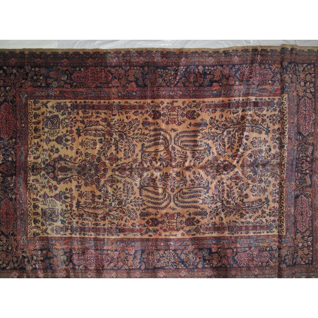 "Persian Leon Banilivi Manchester Kashan - 9' X 14'8"" For Sale - Image 3 of 11"