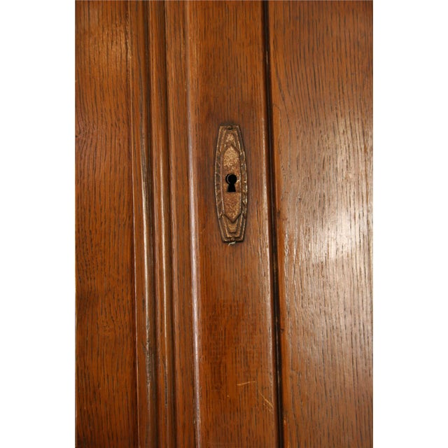 1920 French Art Deco Carved Oak Buffet - Image 7 of 8