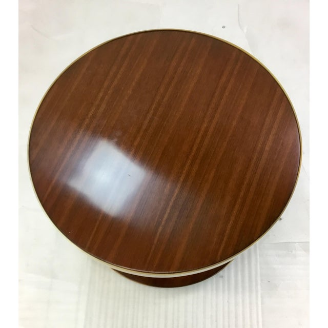 Modern Barbara Barry for Henredon Small Wood Drum Table For Sale - Image 3 of 5