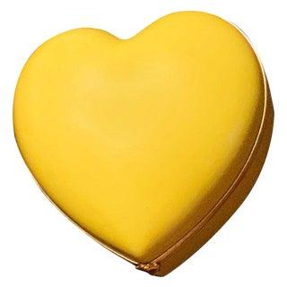 1960s Pop Art Limoges Porcelain Heart Trinket Box For Sale