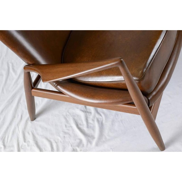 "Ib Kofod-Larsen High Back ""Seal"" Chair For Sale - Image 10 of 10"