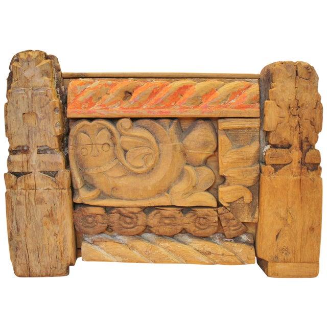 Folk Art Recycled Wood Magazine Rack - Image 1 of 5