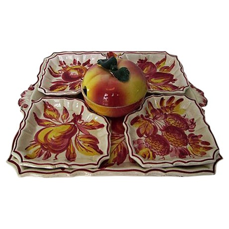 Italian Pottery Serving Set - 6 Pieces - Image 1 of 8