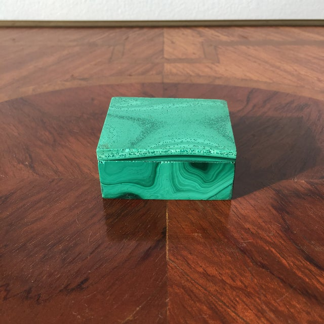 Green Malachite Trinket Box For Sale - Image 8 of 8