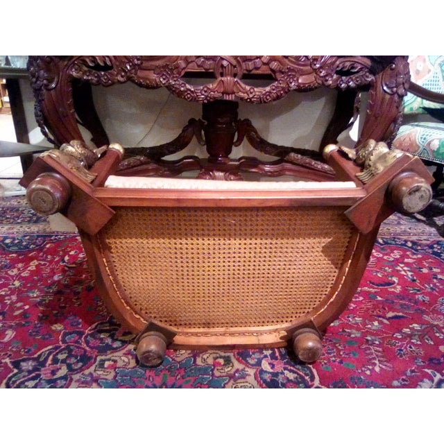 1960s Traditional Caning Wicker Dog Bed With Cushion For Sale In San Antonio - Image 6 of 8