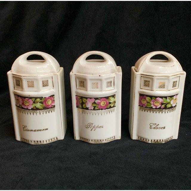 Art Nouveau L & R Germany Spice Condiments Jars Set of 3 For Sale - Image 13 of 13