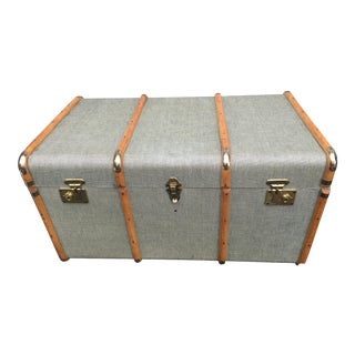 1920s Green & Ivory Cheney Trunk For Sale