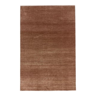 """One-of-a-Kind Contemporary Handmade Area Rug 6' 0"""" x 9' 2"""" For Sale"""