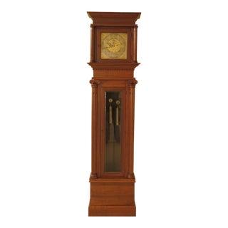 Elliot of London Custom Walnut Cased Grandfather Clock For Sale