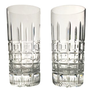 Vintage Highball Cut Crystal Cocktail Glasses - a Pair For Sale