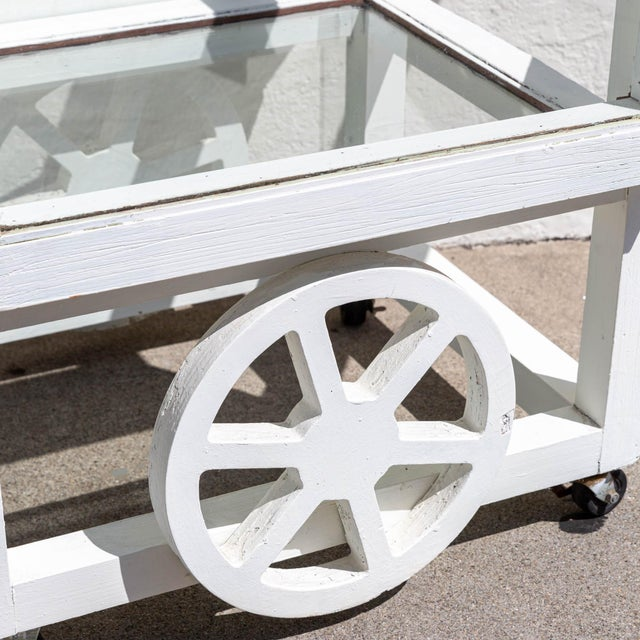 Vintage Terrarium Bar Cart For Sale - Image 4 of 5