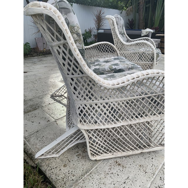 Russell Woodard Glider Loveseat & Glider Chairs Set - 5 Pieces For Sale In Miami - Image 6 of 13