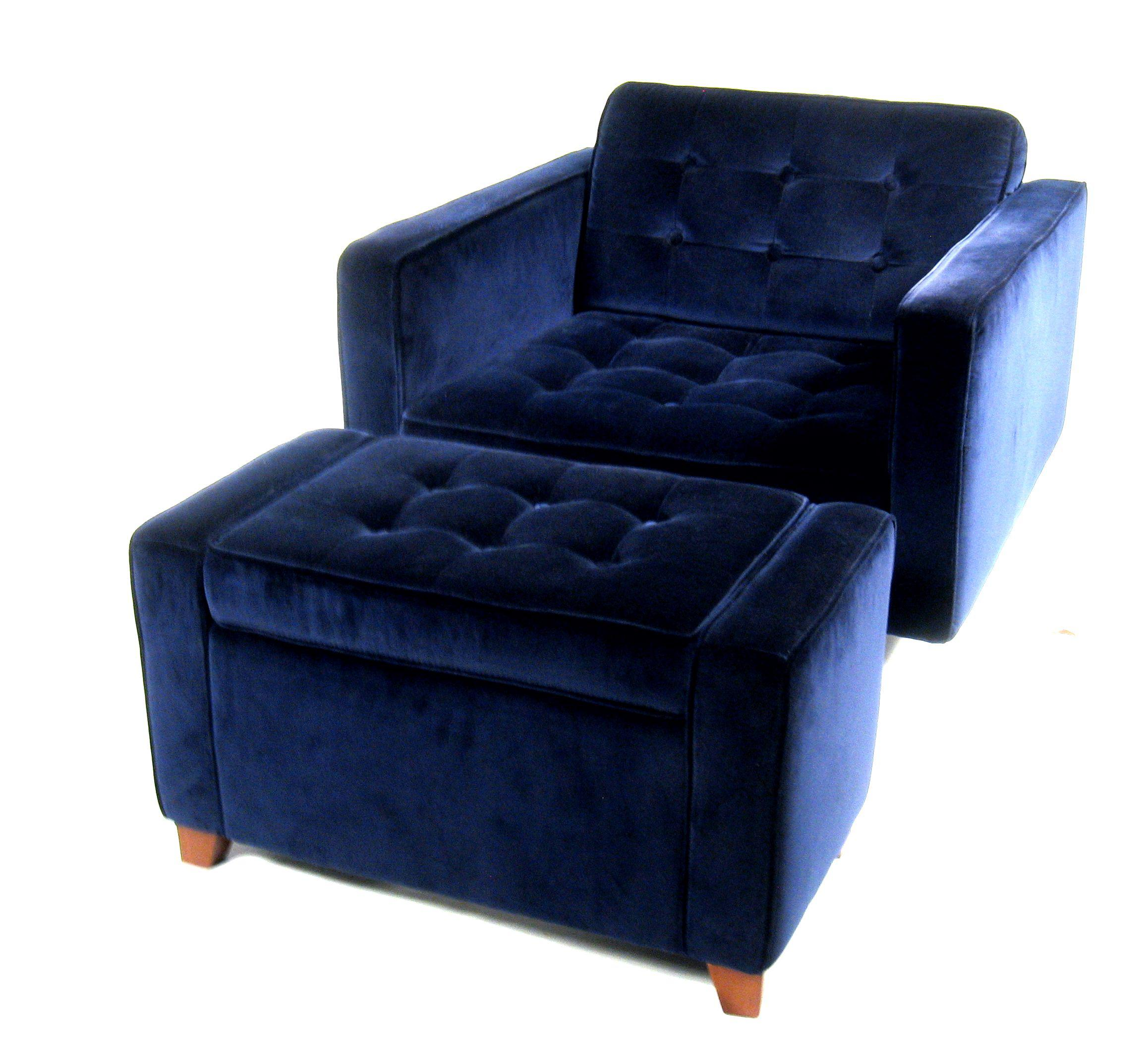Etonnant Adler Happy Chic Line, Chair With Storage Ottoman. Used Piece With Some  Wear On. Boho Chic Boho Chic Jonathan Adler Royal Blue Velvet ...