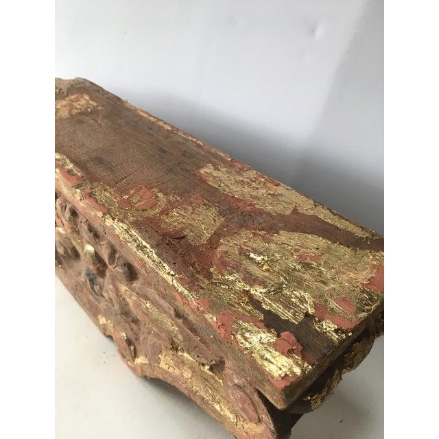 1780 Antique Gold Leaf Korbel For Sale - Image 4 of 9