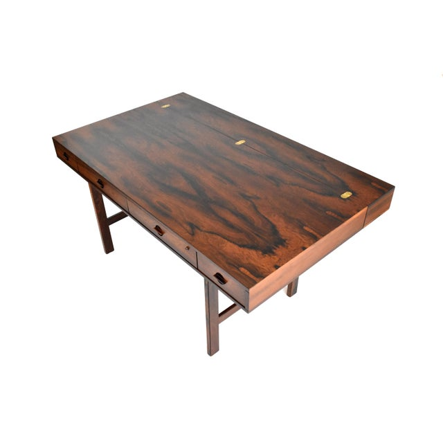 Danish Modern Rosewood Desk by Peter Løvig Nielsen for Dansk - Image 8 of 11