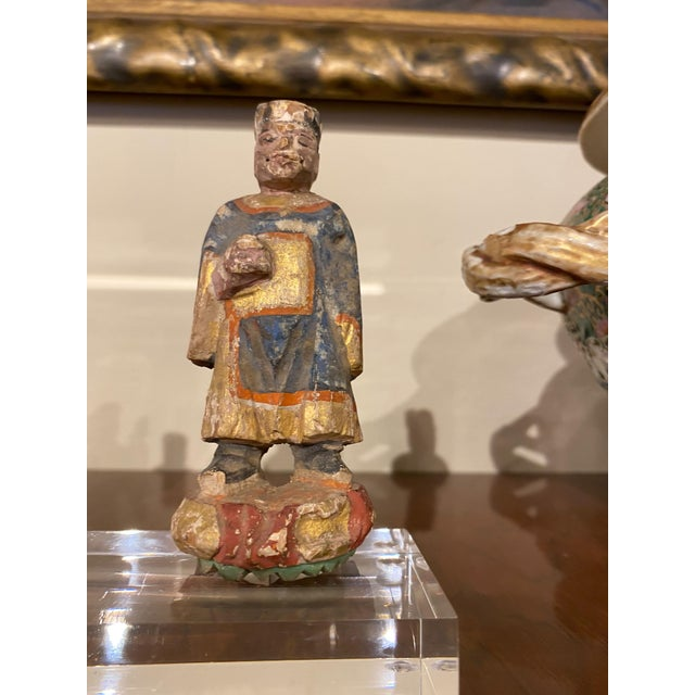 19th Century Chinese Figures on Acrylic Base For Sale - Image 5 of 6