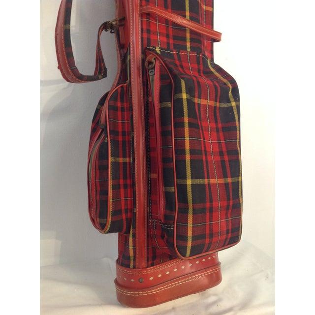 Vintage 1960s Red Tartan Spalding Golf Bag & Clubs - Image 4 of 7