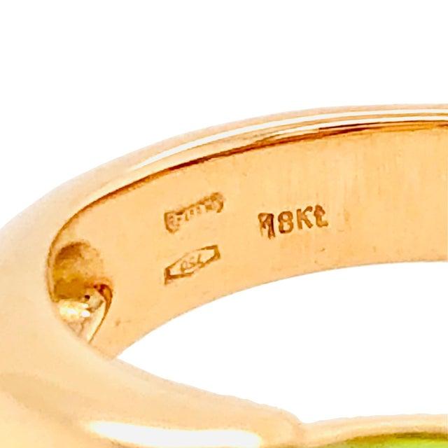 2000 - 2009 Pomellato Sassi Peridot 18k Rose Gold Ring Original Box For Sale - Image 5 of 6