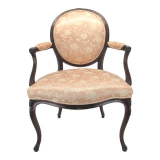 18th Century Louis XV Style Fauteuil with Balloon Back For Sale