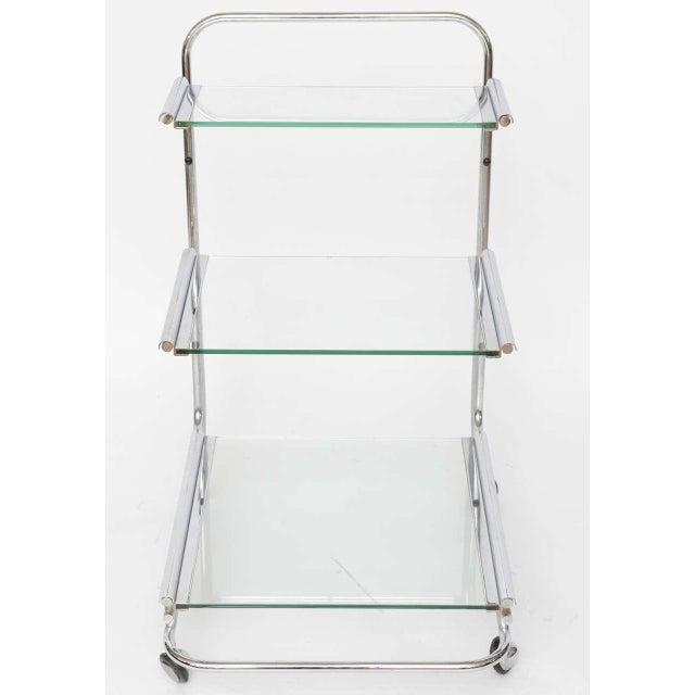 Silver Fontana Arte Chrome Bar Cart For Sale - Image 8 of 10