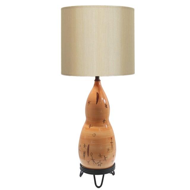 Rare Du Nord Mid-Century Ceramic Lamp For Sale