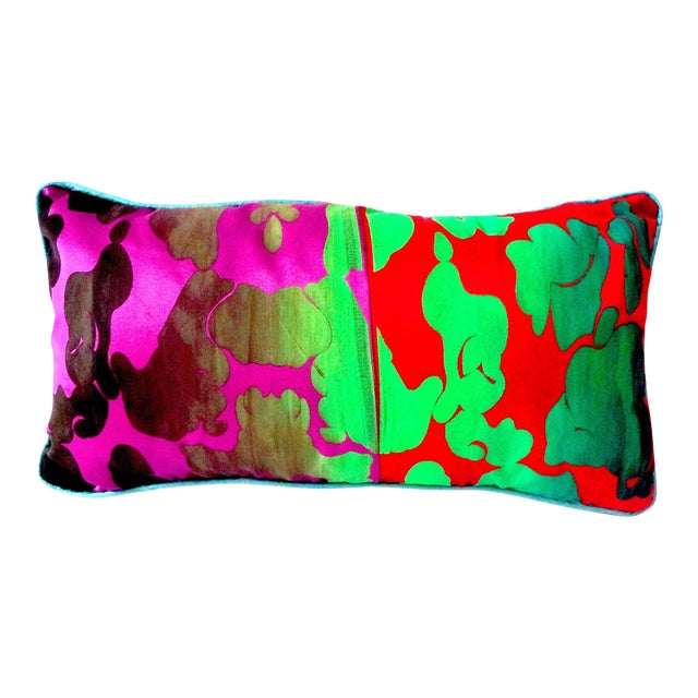 Oblong Camo Pillow With William Morris Back - Image 1 of 4