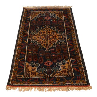 "Afghan Decorative Hand Knotted Tribal Rug - 2'9"" x 4'7"""