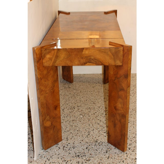 Olive Wood Games Table Backgammon Removable Tray Top Italy 1970s For Sale - Image 10 of 13