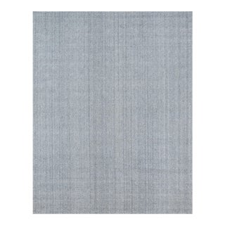 Erin Gates by Momeni Ledgebrook Washington Grey Hand Woven Area Rug - 8′9″ × 11′9″ For Sale