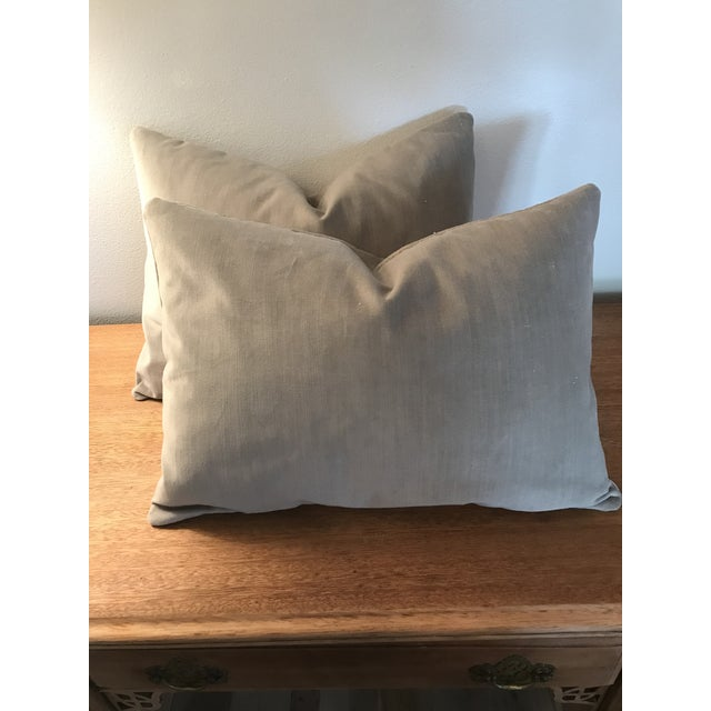 Velvet Lumbar Pillows - a Pair - Image 6 of 6