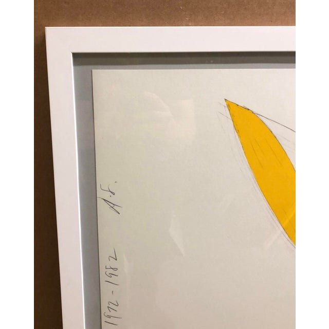 Donald Sultan Donald Sultan Yellow Iris Lithograph 1982 For Sale - Image 4 of 6