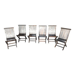 Macassar Ebony Bistro Chairs - Set of 6 For Sale