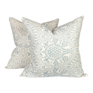 Quadrille Pina Pineapple Linen Pillows - a Pair