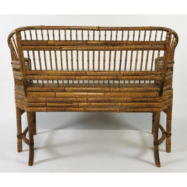 Mid 20th Century Brighton Pavillion Caned Settee For Sale - Image 5 of 11