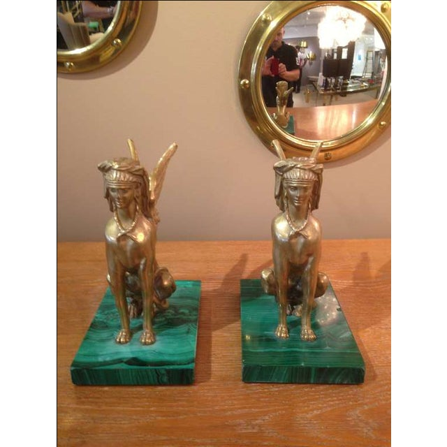 Pair of Antique Egyptian Sphinx Sculptures For Sale In New York - Image 6 of 7