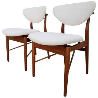 Finn Juhl Attributed Model 108 Teak Chairs A Pair