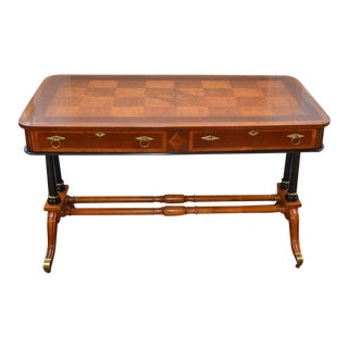 20th Century Regency Mahogany Writing Desk For Sale