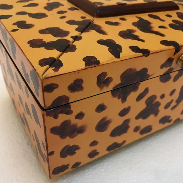 Decorative Animal Print Wooden Box For Sale - Image 4 of 9